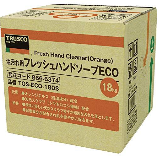 半球ブラウズ未亡人TRUSCO(トラスコ) フレッシュハンドソープECO 18L 詰替 バッグインボックス TOSECO180S