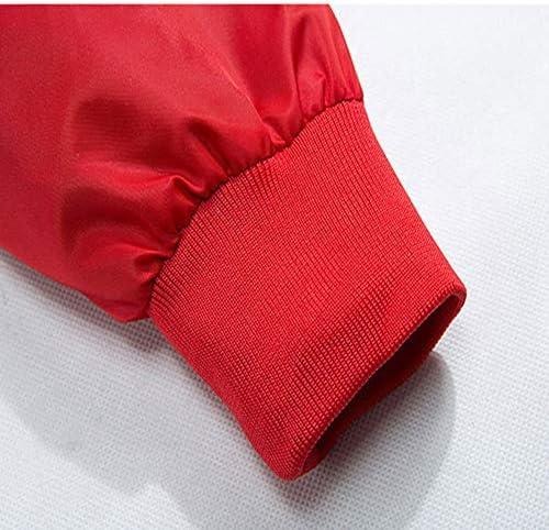 XIELH Giacca da Uomo Primavera Estate Giacca Streetwear Lettera Ricamo Hip Hop Giacche Cappotti Uomo Casual Capispalla, Rosso, L