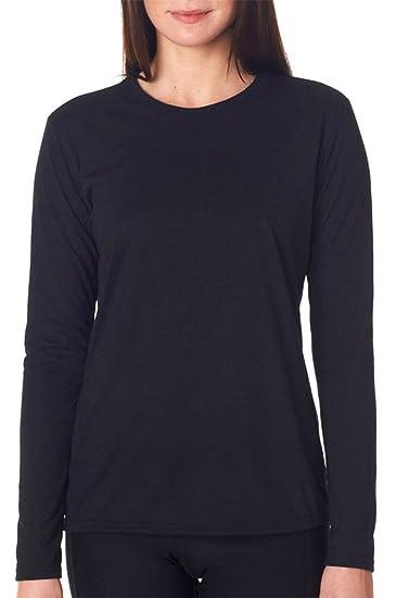 371f4ab2c Gildan Performance Womens 4.5 oz. Long-Sleeve T-Shirt (G424L) BLACK ...