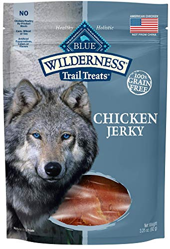 Blue Buffalo Wilderness Grain-Free Turkey Dog Jerky Treats, 3.25 oz ()