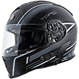 Torc T14B Blinc Loaded Scramble Mako Full Face Helmet (Flat Black/Grey with Graphic