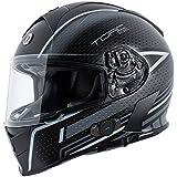Torc T14B Blinc Loaded Scramble Mako Full Face Helmet (Flat Black/Grey with Graphic