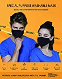 3 Layer Cotton Black Mask Washable, Breathable, Lightweight & Reusable Cover For Adult, Men & Women, Flexible Fit dust Protector, Comfortable & Easy Wear (1)