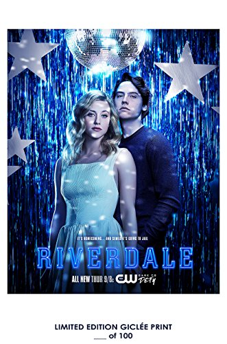 Rare Poster thick cole sprouse Riverdale tv 2017 jughead Reprint #'d/100!