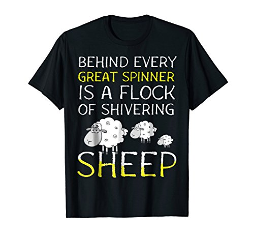 (Hand Spinning Roving Dyeing Spinner Shivering Sheep T-Shirt)