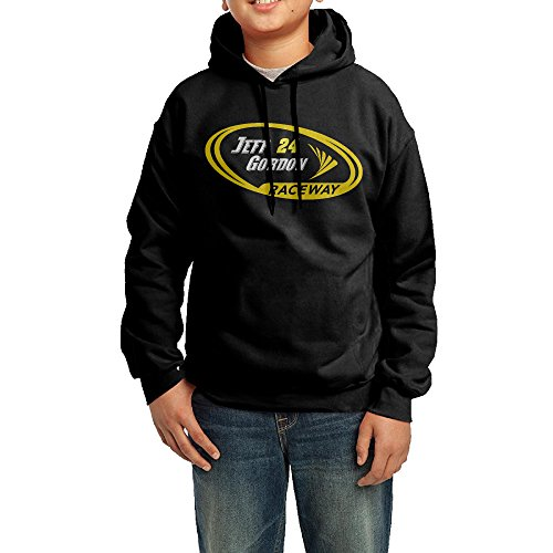 [YHTY Youth Boys/Girls Hoodie Jeff Gordon Nascar Black Size L] (Nascar Tony Stewart Costumes)