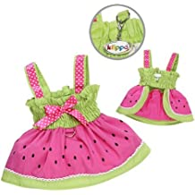 Juicy Watermelon Dog Sundress with Large D-ring for Easy Leash Attachment Sizes: Medium