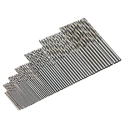 Drillzone 10pcs Straight Shank Micro HSS Twist Drilling Bit for Electrical Drill