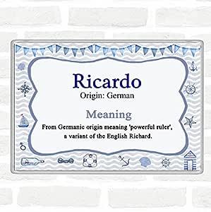 Imán para nevera Ricardo con el nombre y significado de Ricardo ...