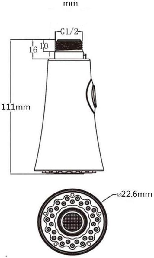 Tirer R/églages douche t/ête pour la cuisine salle de bains mitigeur 2 Fonction Robinet de cuisine t/ête de pulv/érisation Pi/èce de rechange fini chrome Universal G 1//2-inch