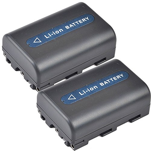 MASIONE 2 Pack 1800mAh High Capacity Battery for Sony M Type NP-FM30 NP-FM50 Equivalent Camcorder Digital Camera Battery DSC-S30 DSC-S85 F707 F717 F828 by Masione