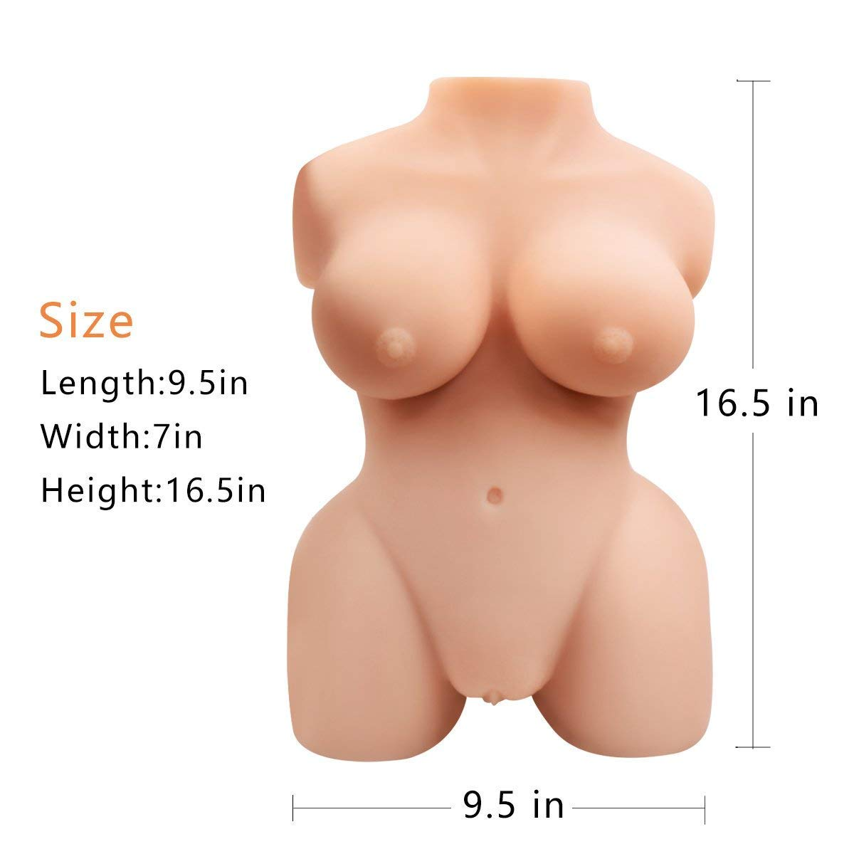 Realistic Lifelike Silicone Dolls - Super Real Smooth Soft Lifesize 3D Adult Toys for Men Male by BFFY (Image #7)