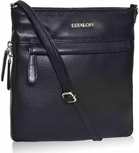0ccae36f4696 Leather Crossbody Purse for Women- Premium Crossover Cross Body Bag Over the  Shoulder Luxury Premium