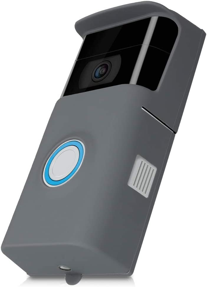 kwmobile Case Compatible with Ring Video Doorbell 2 (2nd Gen) - Protective Silicone Cover Grey