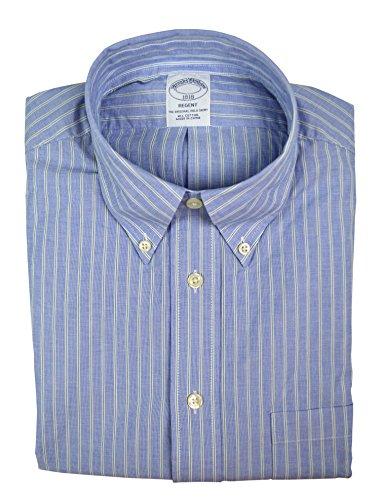 Brooks Brothers Men's Striped Regent Fit Cotton Button Down Shirt Blue Green - Shirt Cotton Brooks