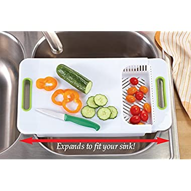 Adjustable Over Kitchen Sink Cutting Board