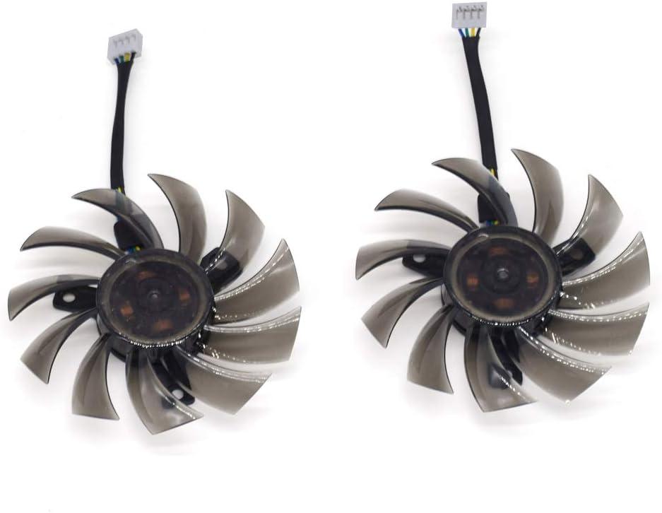 inRobert 75mm GA81S2U DC 12V 0.38A 4Pin Cooler Fan Video Card Fan Replacement for Zotac GTX 970 Dual Fan Graphic Card (DIY Fan)