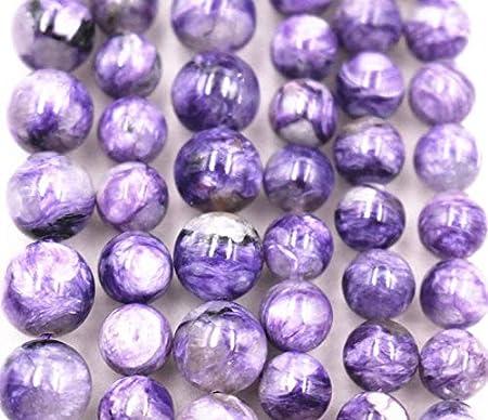 13mm Genuine Charoite Gemstone Grade AA Purple Round Loose Beads 7.5 inch Half Strand 80004772-460