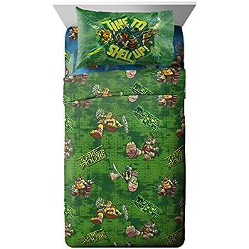 Amazon Com Teenage Mutant Ninja Turtles Shell Up 3pc Twin