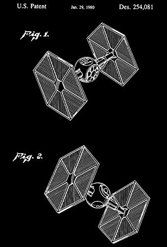1980 - Star Wars Tie Fighter - Patent Art Poster