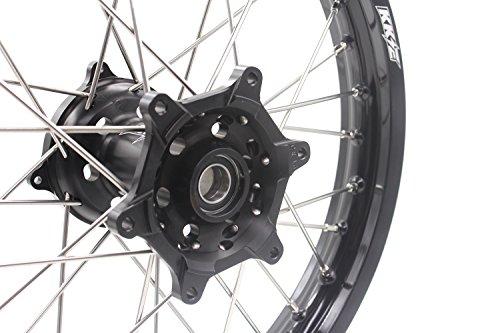 KKE HONDA MX CNC Wheel 21/19 CRF450R 02-12 CRF250R 04-13 Black Hub by KKE (Image #7)
