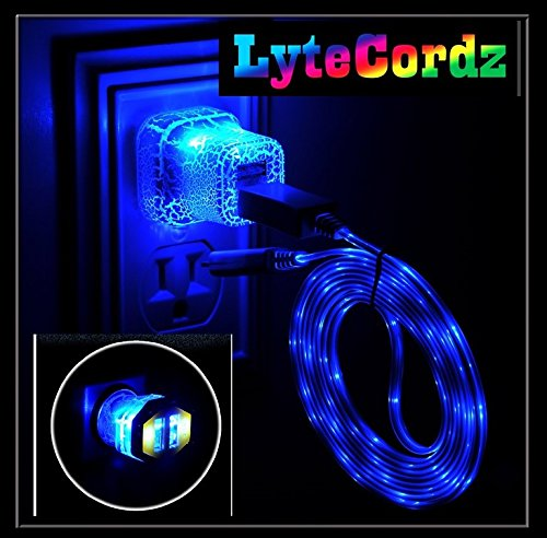 separation shoes 95202 40d65 LYTECORDZ Light Up Glowing LED Phone Charging Charger Cable USB Cord  Compatible With iPhone 5 6 7 8 X Android Micro Type C with LED Car and Wall  Plug ...