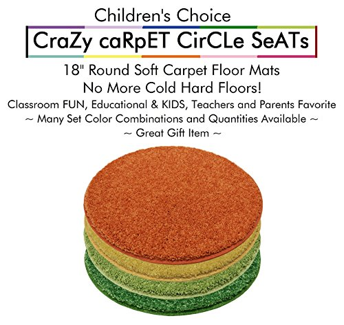 Set 4 - Summer Days Kids Crazy Carpet Circle Seats 18