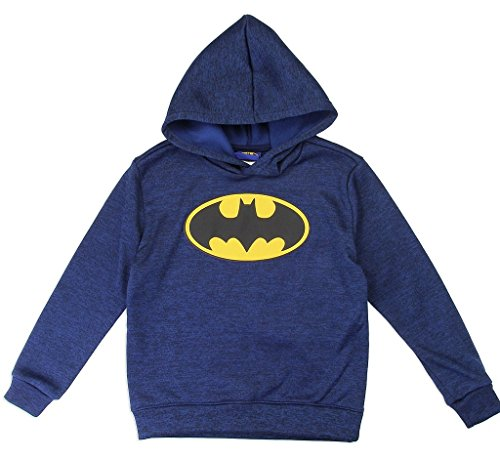 Dc Sweatshirt Lined (Warner Bros. DC Comics Little Boys' Batman Logo Pullover Hoodie, Navy (2T))