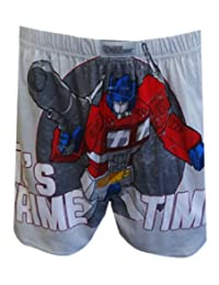 Transformers Optimus Prime Time Gray Boxer Shorts for men (Small)