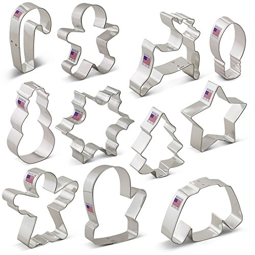 Christmas Cookie Cutter Set - 11 Piece - Holiday Shapes I...