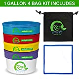 iPower GLBBAG1X4 1-Gallon 4 Bubble Hash Bag Herbal