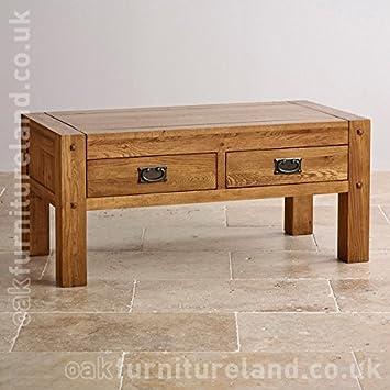 Oak Furniture Land Quercus Rustikale Solide Eiche Mit 4 Schubladen