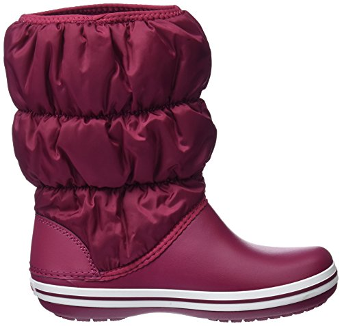 Snow Crocs Women Winter Pomegranate Red White Boots 6d7 Puff Cqqvaxwt