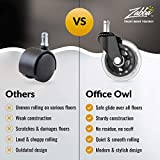 Office Owl Caster Wheels for Office Chair - Set of