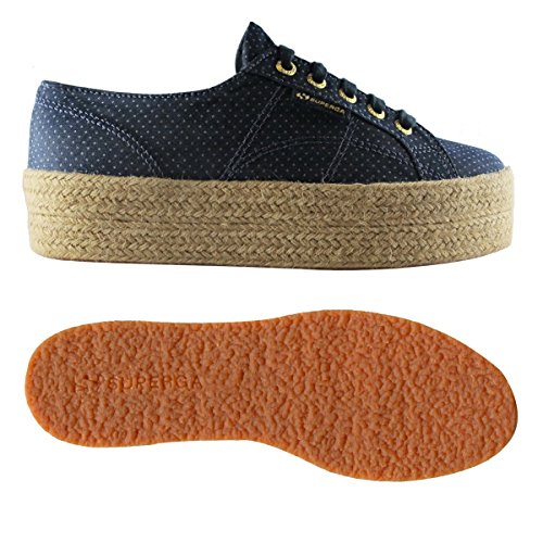 Superga Basses Adulte Blue ~fabricshirtropew Mixte Indigo Dots Sneakers 2790 rqwfYtr