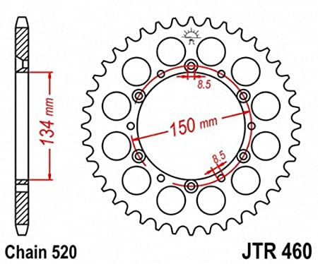 JT Sprockets JTR460.47 47T Steel Rear Sprocket