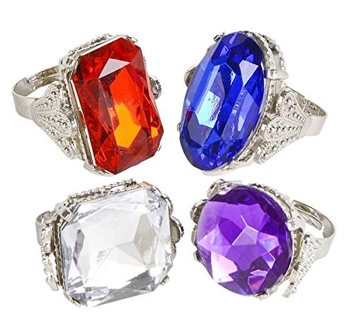 Jumbo Jeweled Rings Assortment (1 dz) by Rhode Island Novelty