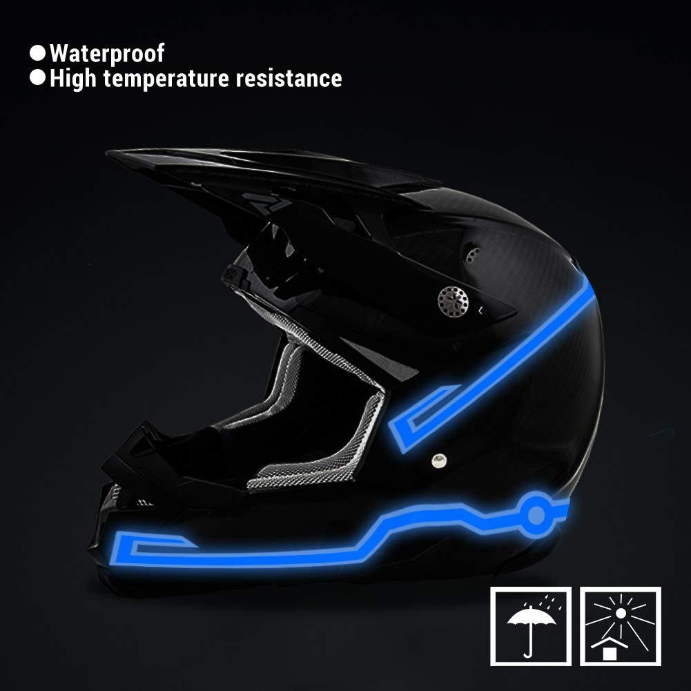 Helm Warnung Licht Nacht Reiten Sicherheit Signal DIY-Kits Wilxaw Helm LED Licht Wasserdichtes Motorrad Licht Streifen