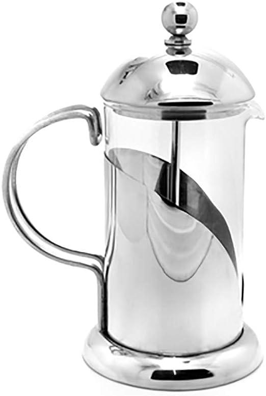 MYD888 Cafetera Francesa de Acero Inoxidable para Uso doméstico, Tetera, Filtro de café, Olla de Filtro de Vidrio: Amazon.es: Hogar