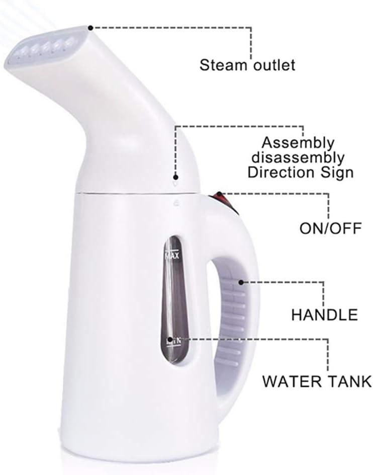 Lcme Steamer for Clothes Potente Portatile Portatile Ferro da Stiro a Vapore Abbigliamento Rimozione Rughe Pulire Sterilizzare Sanificare Rinfrescare Trattare Scongelare per Abbigliamento//Viaggio