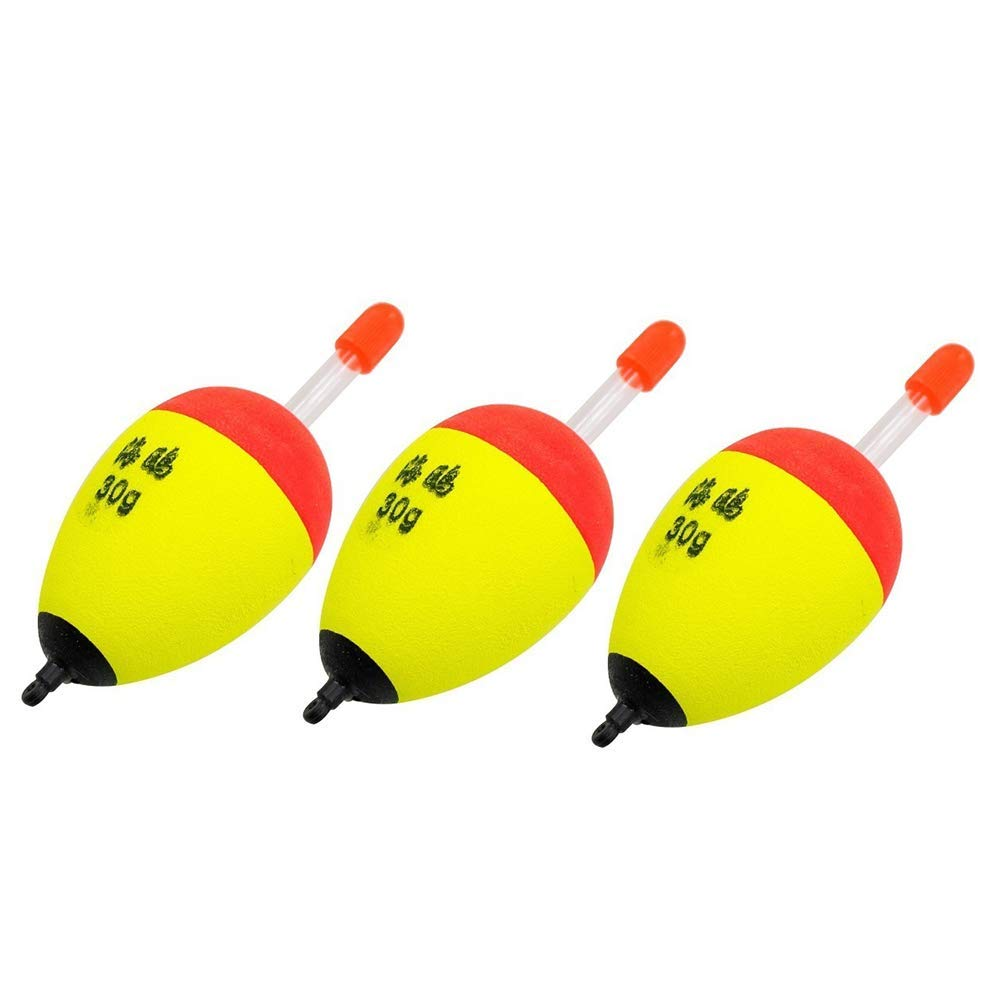 Fishing Accessory,3Pcs 2.2-4.4g EVA Buoy Luminous Float Fish Bait Detector Fishing Accessories- High Quality