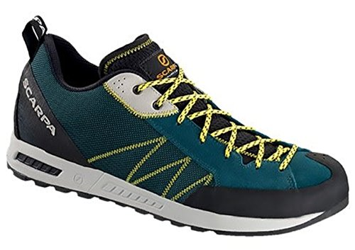 Scarpa Mens Lite Shoes & E-tip Guanto Bundle Lago Blu / Giallo