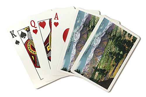 Colorado - Panoramic View of Rampart Range Road and Pikes Peak (Playing Card Deck - 52 Card Poker Size with Jokers)