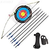 kaimei 37Inch Archery Bow and Arrow Set Recurve Bow Camouflage Outdoor Sports Game
