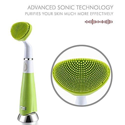 or Normal Sensitive Skin Deep Cleansing Clean Face Remove Oil Makeup Dirt Massage Skin -Cyan (Brush Skin Care Massage Oil)