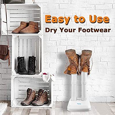 LAVIEAIR Shoe Dryer, Boot Deodorizer, Ultra Quiet, White Color