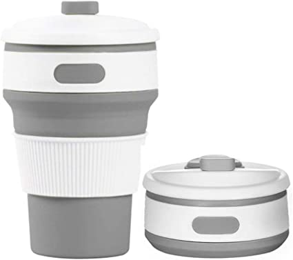 76-Walker Collapsible Travel Cup Portable Food-Grade Sillicone Camping Coffee Mug with Lid Folding Outdoor Hiking Durable Drinking Bottle Heat-Resistant Leak-Proof FDA /& BPA-Free ECO Friendly