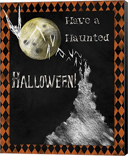 Haunted Halloween by Tina Lavoie Canvas Art Wall Picture