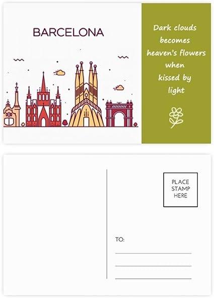 Barcelona España - Juego de tarjetas postales (20 unidades ...