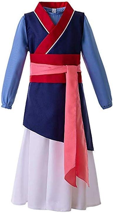 YIMOLL Hua Mulan - Disfraz de Anime para Mujer, Vestido Largo y ...